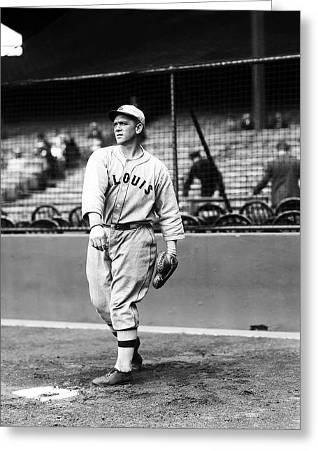 Baseball Game Greeting Cards - Stephen F. Steve ONeill Greeting Card by Retro Images Archive