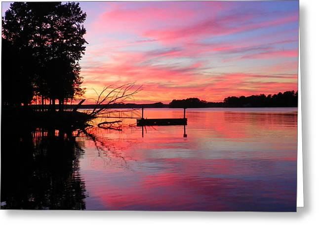 Sun Greeting Cards - Sunset Greeting Card by Lisa Wooten
