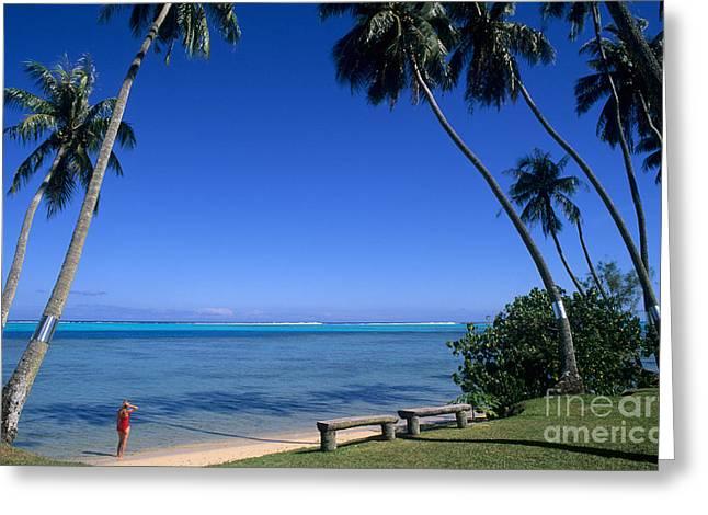 Sunbathing Greeting Cards - Tahiti Greeting Card by Bill Bachmann