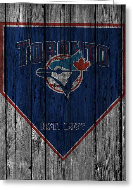 Toronto Blue Jays Greeting Card by Joe Hamilton