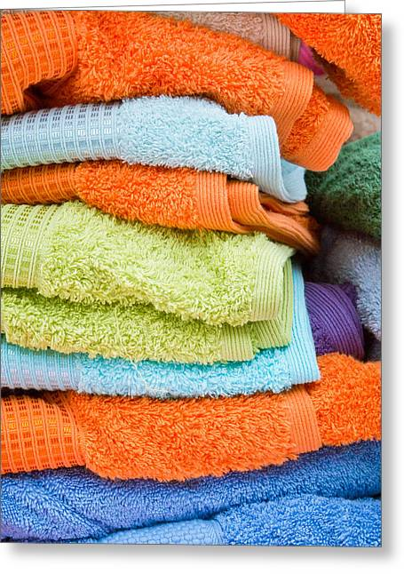 Towelling Greeting Cards - Towels Greeting Card by Tom Gowanlock