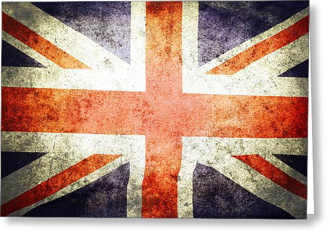 British Flag Greeting Cards - Union Jack  Greeting Card by Les Cunliffe