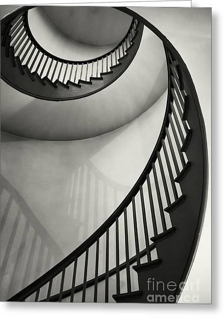 Spiral Staircase Photographs Greeting Cards - Untitled Greeting Card by Greg Ahrens