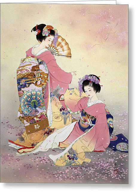 Recently Sold -  - Purple Robe Greeting Cards - Untitled Greeting Card by Haruyo Morita