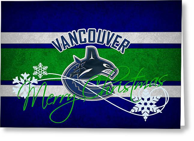 Skate Greeting Cards - Vancouver Canucks Greeting Card by Joe Hamilton