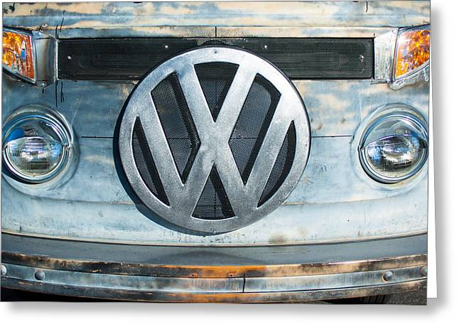 Volkswagen Greeting Cards - Volkswagen VW emblem Greeting Card by Jill Reger