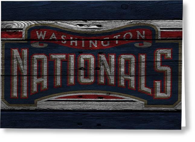 National Greeting Cards - Washington Nationals Greeting Card by Joe Hamilton