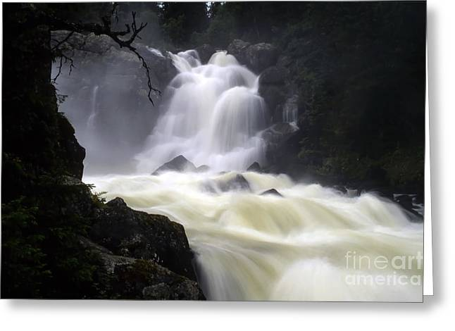 Beautiful Scenery Greeting Cards - Waterfall Greeting Card by IB Photo
