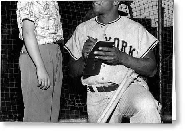 Willie Mays Greeting Card by Retro Images Archive