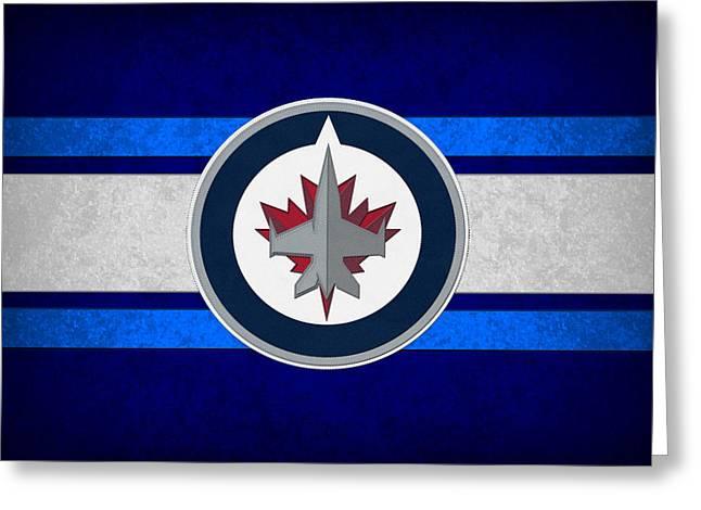 Jets Photographs Greeting Cards - Winnipeg Jets Greeting Card by Joe Hamilton