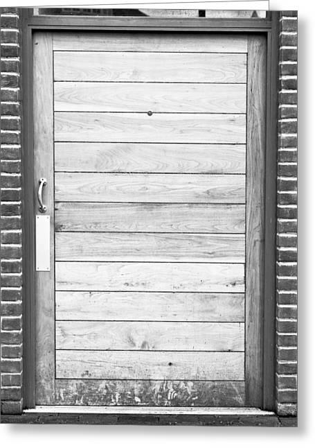 Wooden Door Greeting Card by Tom Gowanlock