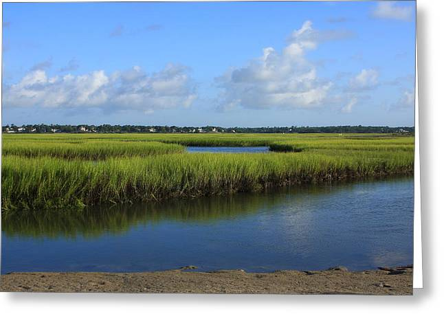 Best Sellers -  - Tidal Photographs Greeting Cards - Wrightsville Beach Marsh Greeting Card by Michael Weeks