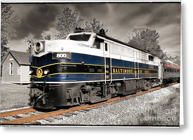 Cvnp Greeting Cards - 800 Engine Warm Silver and Color Greeting Card by Duane Loya