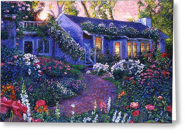 Evening Lights Greeting Cards - 805 The Homecoming Greeting Card by David Lloyd Glover