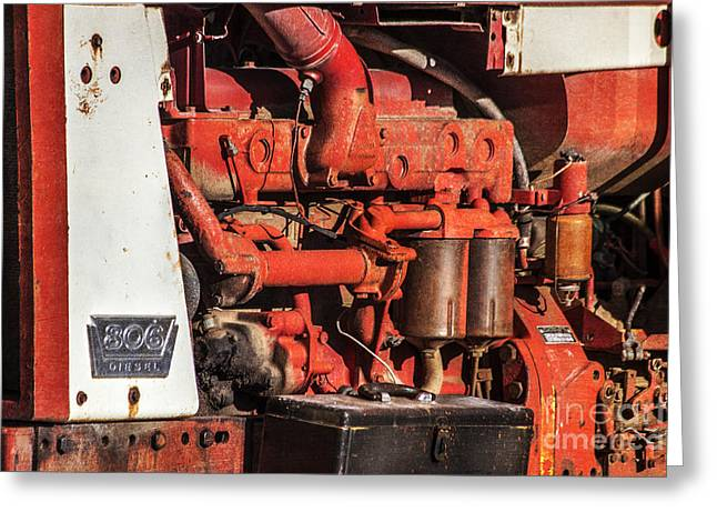 Agronomy Greeting Cards - 806 Diesel Antique Tractor Greeting Card by Janice Rae Pariza