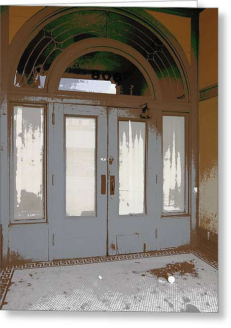 French Door Greeting Cards - 806 NORTH - OUT of the WEATHER Greeting Card by Daniel Hagerman