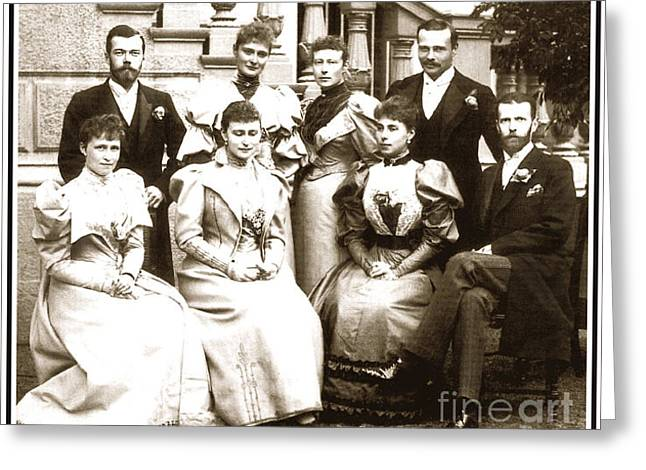 Melita Greeting Cards - 81. Guests at the wedding of Princess Victoria Melita and Ernest Louis Print Greeting Card by Royal Portraits