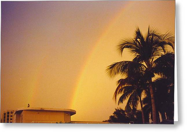 Double Rainbow Greeting Cards - Skyscape Greeting Card by Robert Floyd