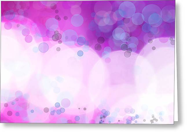 Abstract Background Greeting Card by Les Cunliffe