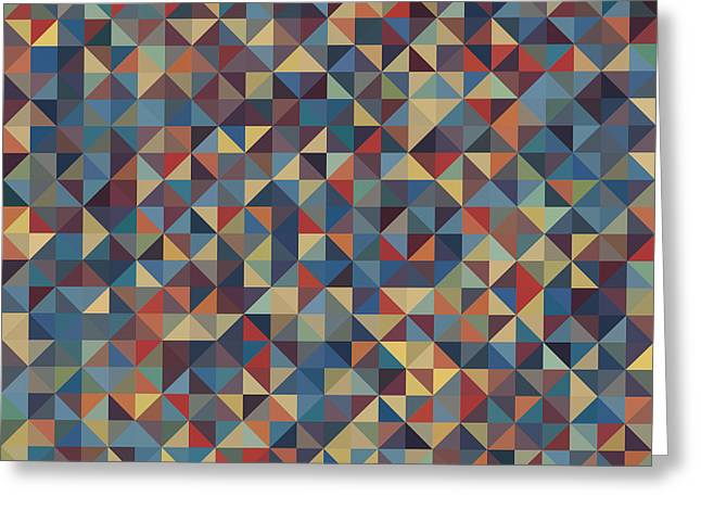 Geometric Style Greeting Cards - Pixel Art Greeting Card by Mike Taylor