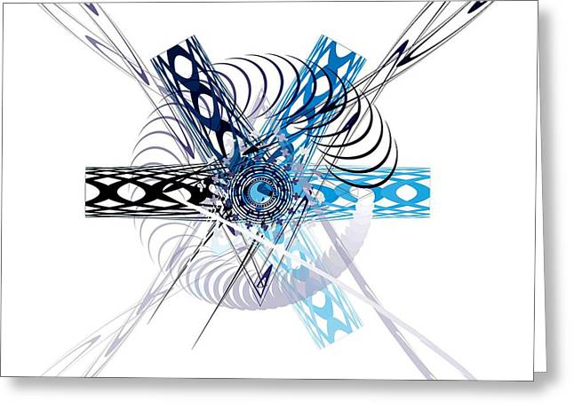 Abstract Greeting Card by Bogdan Floridana Oana