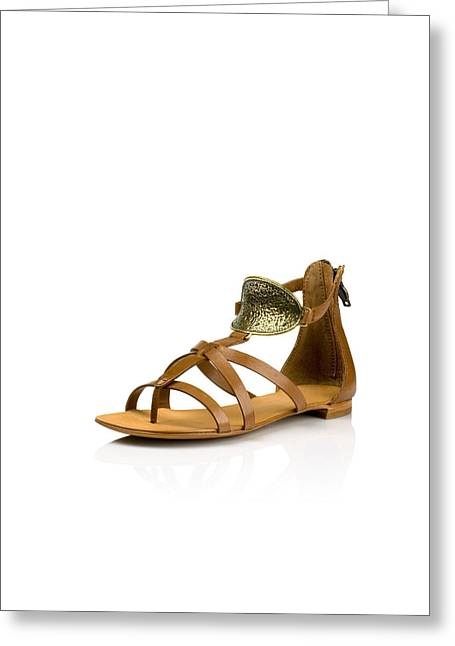 Cut-outs Greeting Cards - Womens fashion shoes Greeting Card by Nikita Buida