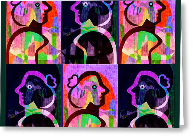 Bold Style Greeting Cards - 860 - Lola Pop 1 Greeting Card by Irmgard Schoendorf Welch
