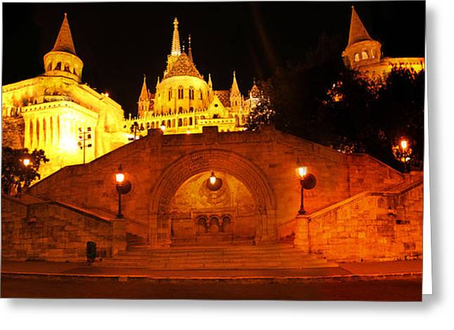 Budapest Hungary Fishermans Bastion Greeting Card by Gregory Dyer