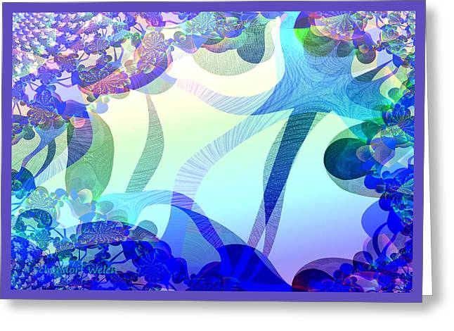 Fractal Greeting Cards Greeting Cards - 872 - Spring  violets ...  Greeting Card by Irmgard Schoendorf Welch