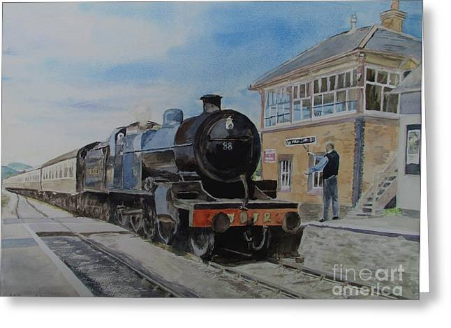 Platform. Level Greeting Cards - 88 At Blue Anchor Greeting Card by Martin Howard