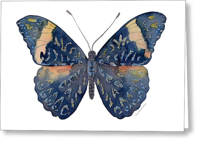 Blue And Red Paintings Greeting Cards - 89 Red Cracker Butterfly Greeting Card by Amy Kirkpatrick