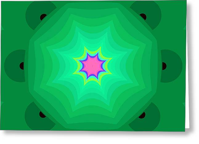 Hallucination Greeting Cards - The kaleidoscope Greeting Card by Odon Czintos