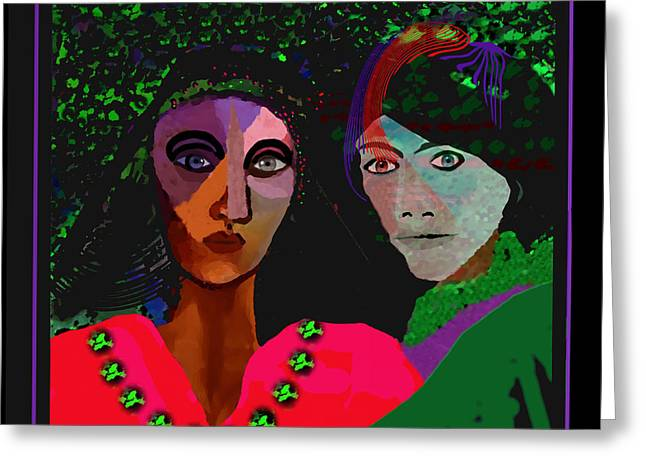 Bold Necklace Greeting Cards - 899 - A Couple ... Greeting Card by Irmgard Schoendorf Welch