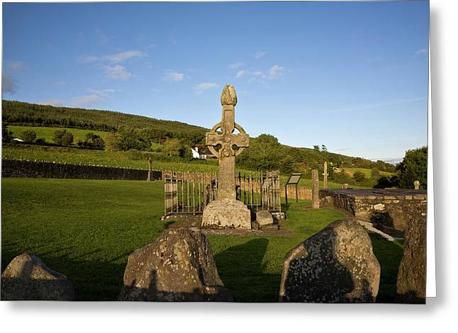 8th Century High Cross In Kilkeiran Greeting Card by Panoramic Images