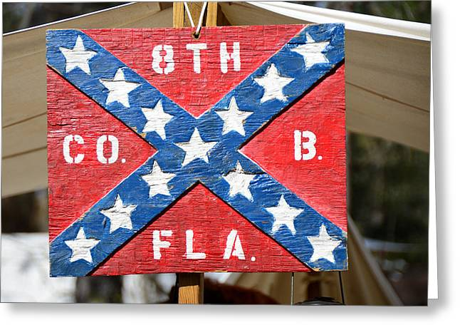 Confederate Flag Greeting Cards - 8th Florida Company B Headquarters Greeting Card by David Lee Thompson