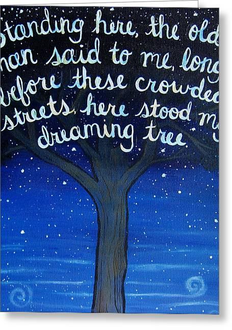 8x10 Draming Tree Greeting Card by Michelle Eshleman