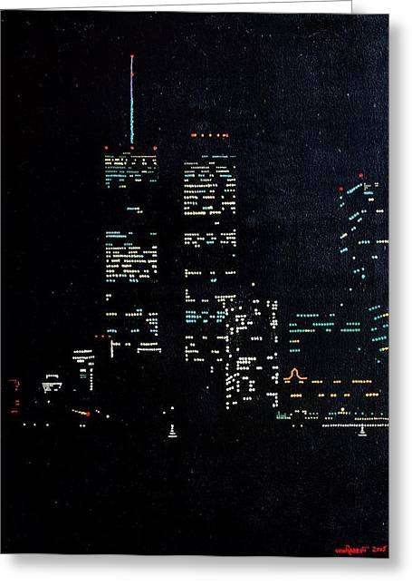 Wtc 11 Paintings Greeting Cards - 9/10 Greeting Card by TC VonRabbitt