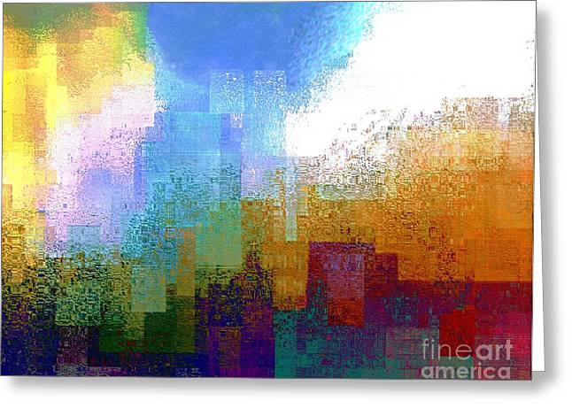 Deconstructed Greeting Cards - 9-11-01 Greeting Card by Dale   Ford