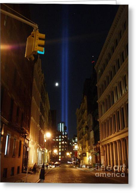 9-11-2013 Nyc Greeting Card by Jean luc Comperat