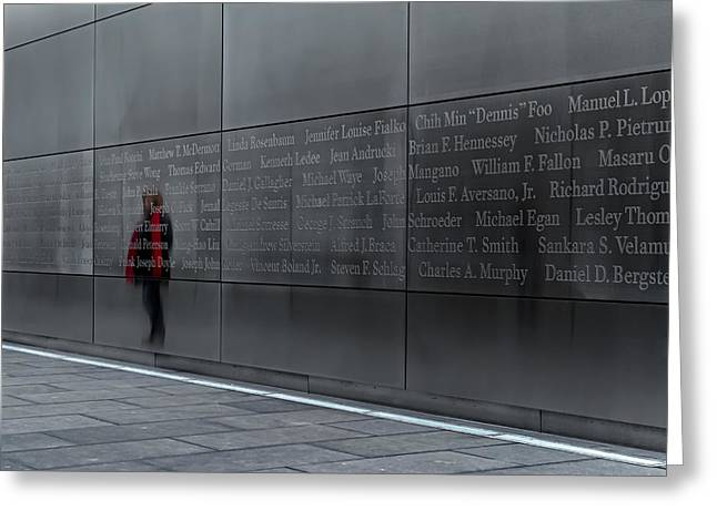 Stainless Steel Greeting Cards - 9/11 Memorial Greeting Card by Eduard Moldoveanu