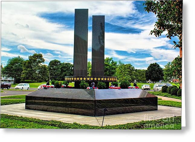 Terrorism Greeting Cards - 9/11 Memorial Freehold NJ Greeting Card by Nick Zelinsky