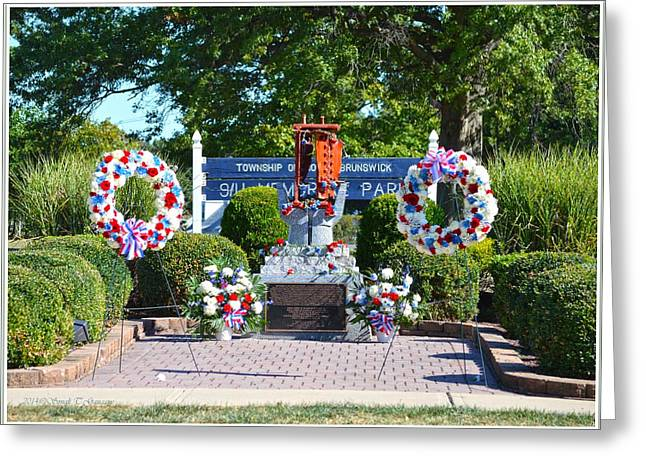 Reverence Greeting Cards - 9 11 Memorial Park Greeting Card by Sonali Gangane