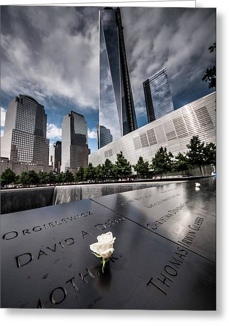Wtc 11 Greeting Cards - 9/11 Greeting Card by Michael Sage Friean
