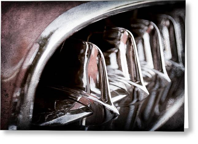 Jill Reger Photography Greeting Cards - 1957 Chevrolet Corvette Grille Greeting Card by Jill Reger