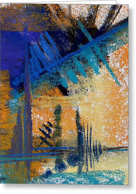Contemporary Abstract Pastels Greeting Cards - Failing of the Pines #9 Greeting Card by Tracy L Teeter