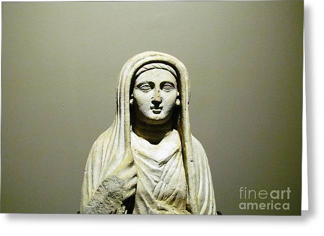 Ceramic Relief Sculpture Greeting Cards - Alanya Historic Art  Greeting Card by Ted Pollard