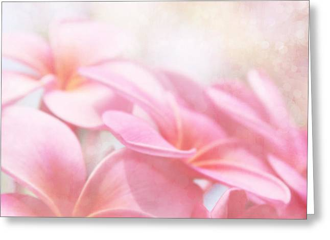 Pink Blossoms Digital Greeting Cards - Aloha Greeting Card by Sharon Mau