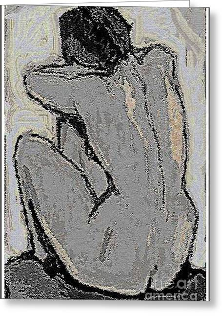 Alone With Grief Greeting Card by Pemaro