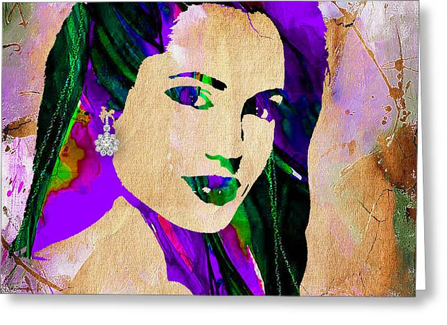 Star Greeting Cards - Angelina Jolie Collection Greeting Card by Marvin Blaine