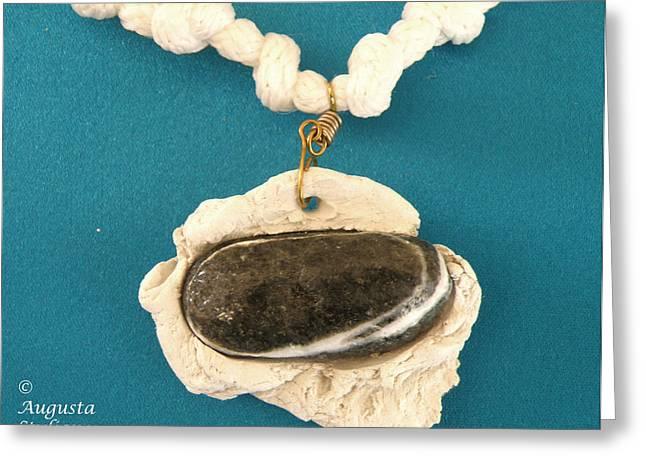 Stone Jewelry Greeting Cards - Aphrodite Anadyomene  Necklace Greeting Card by Augusta Stylianou